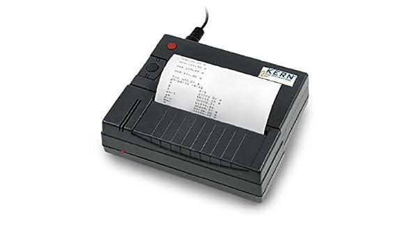 Impresora térmica de estadísticas para Núcleo de cocina con interfaz RS-232 [Kern YKS de 01] Expresa de pesaje Valores, rezepturen etc. o para a3843glp de ...