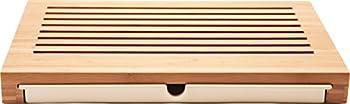 "Alessi ""Sbriciola"" Bread Board in Bamboo Wood With Crumb Catcher in Thermoplastic Resin, Wood"