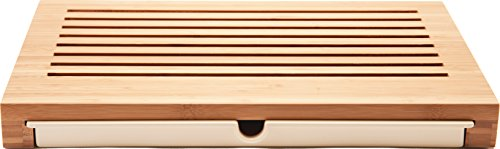 Alessi Sbriciola Bread Board in Bamboo Wood With Crumb Catcher in Thermoplastic Resin, Wood