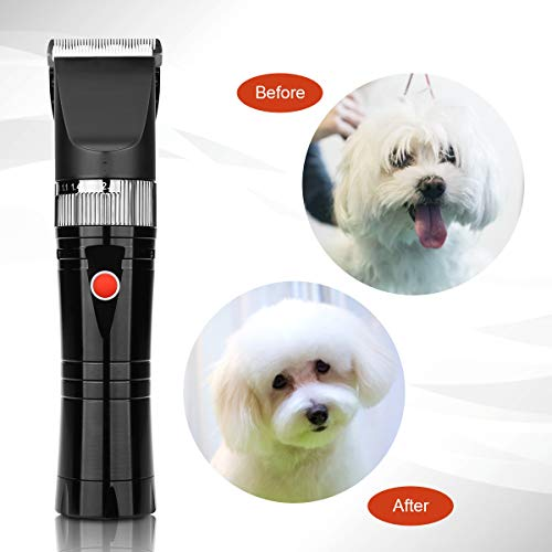 Pro Pet Clippers, HONGNAL Dog/Cat/Sheep Hair Cutting Kit, 7000RPN,2000 mAh Powerful Electric Dog/Cat Cutting Trimmer Set