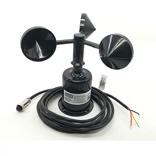 3 Cups Wind Speed Sensor Anemometer 12V Supply Modbus Protocol RS232 Output by Calt