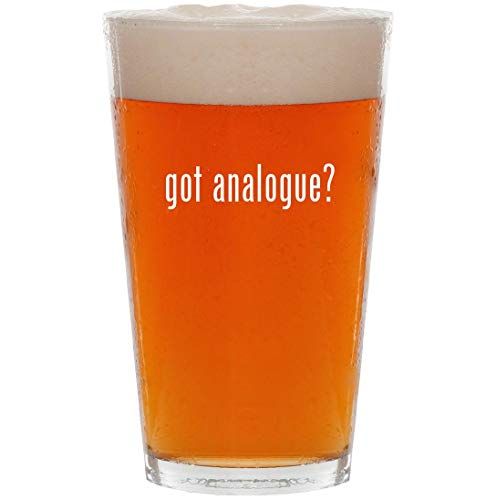 got analogue? - 16oz All Purpose Pint Beer Glass