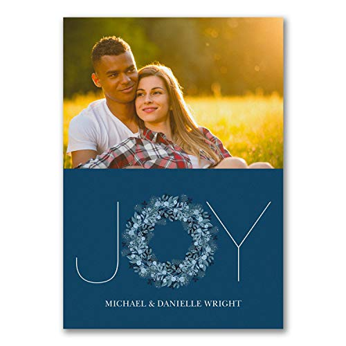 350pk Joy Typography Photo Card - Blue - UNICEF-Charity Cards