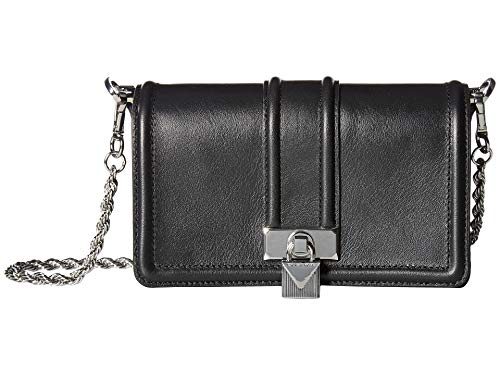 (Michael Kors Padlock Chain Leather Crossbody)