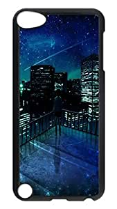 iPod 5 Cases, Hot Sale Personalized Girl Looking At Falling Star Ideas Protective Hard PC Plastic Black Edge Case Cover for Apple iPod Touch 5 5th Generation