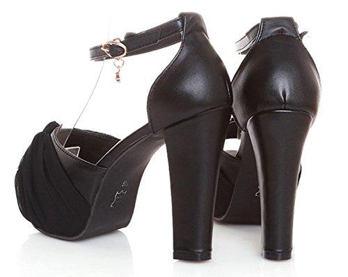 Cadeau Toe Noir Aisun Plateforme Femme Peep Sandales Sexy O1vxpwCqnf