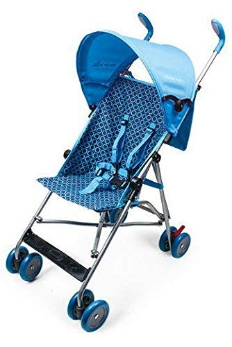 Wonder Buggy Skylar Jumbo Umbrella Stroller, Rounded Hood, Teal Blue, Large
