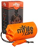 MyLifeCare Emergency Sleeping Bag: Ultimate Bivvy Survival Sleeping Bag, Survival Gear - Includes Bivy Sack, Emergency Whistle + Paracord String, Mylar Blanket, Survival Gear Kit, Emergency Blanket