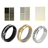 228 Pieces Ring Size Adjuster with Jewelry Polishing Cloth, Invisible and Universal Perfect Fit for Loose Rings(3 Colors and 6 Sizes)