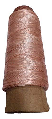 Desi Hawker 275+ Yards - Viscose Rayon Art Silk Thread Yarn - Embroidery Crochet Knitting Lace Jewelry Trim (Rose Gold)