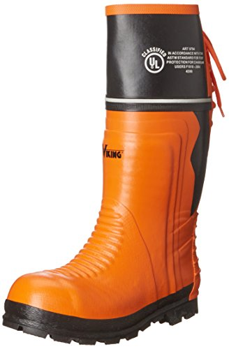 Viking Footwear Class 2 Chainsaw Boot,Orange/Black,13 M US