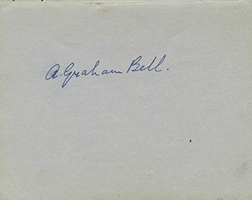 Image Unavailable. Image not available for. Color: Alexander Graham Bell - Signature