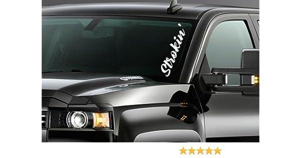 BLACK BEAUTY windshield decal diesel truck sticker powerstroke 2500 F350 F250