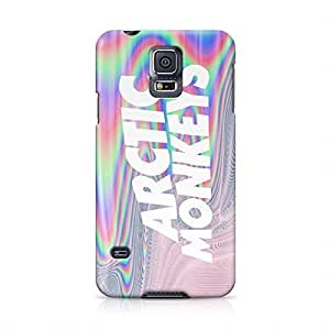Arctic Monkeys Holographic Logo Tie Dye Hard Plastic Snap-On Case For Samsung Galaxy S5