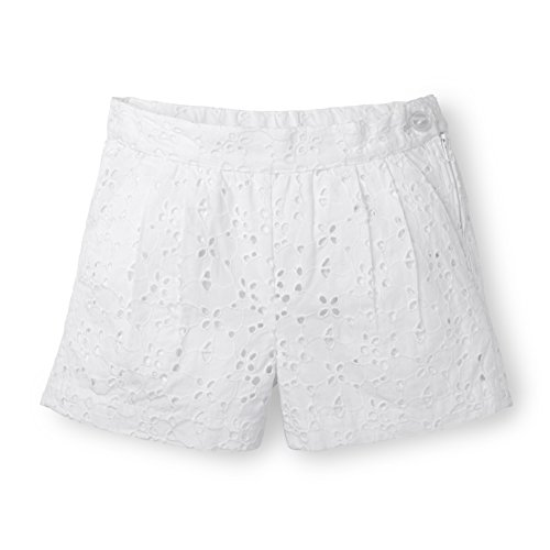 Hope & Henry Girls Eyelet Set Made With Organic Cotton, Short, White, 18-24 (White 20 Eyelet)