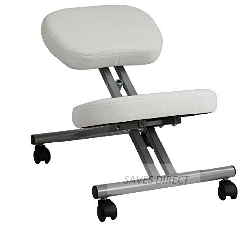 SAVES DIRECT Unique Kneeling Orthopaedic Ergonomic Posture Office Stool Chair Seat White 5300