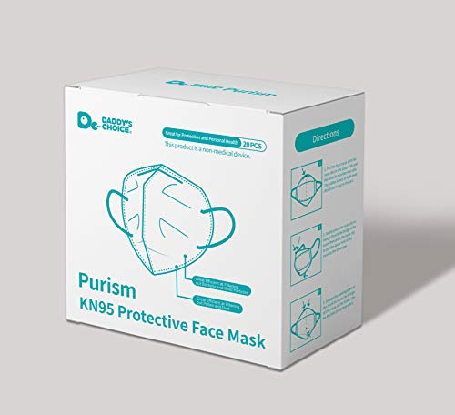 Purism, KN95/FFP2 Respirator Protective Face Mask, 94% Filtration, 20 Pieces