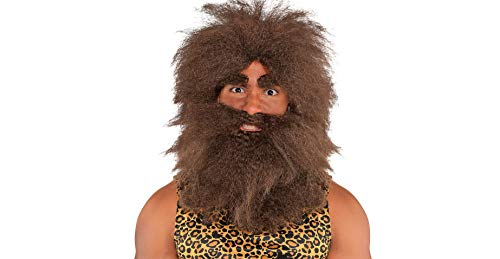 Amscan Hairy Caveman Halloween Costume Accessory Kit for Adults, One Size