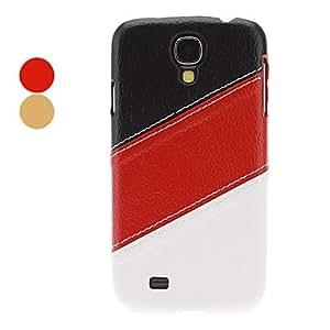 conseguir 3-Color PU cuero caso completo del cuerpo para Samsung i9500 Galaxy S4 , Marrón
