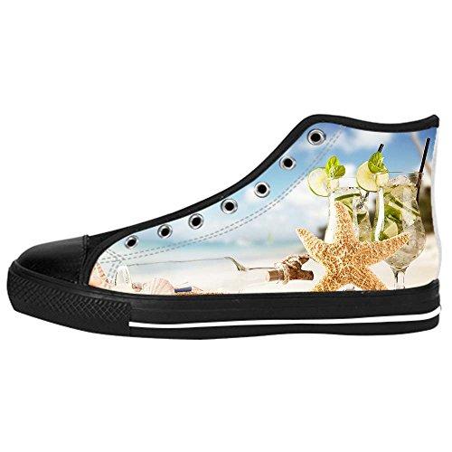 Men's Shoes Canvas Da Alto Di Lacci Custom Marine Stelle In Ginnastica Delle Scarpe Sopra Tela Spiaggia I Le 2IDEHW9