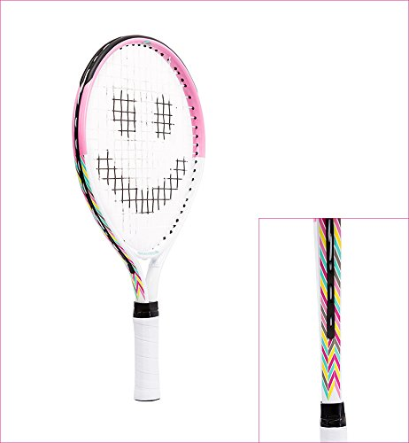 Street Tennis Club Tennis Rackets for Kids, 21-Inch, Pink/White