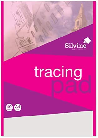 """9/"""" x 12/"""" Medium Weight Fine Textured Tracing Paper Pad 40lbs 30-Sheets 2-Pads"""