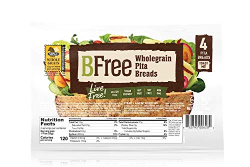 Bfree Gluten Free Whole Grain Stone-Baked Pita Bread, 7.76 Oz [Pack of 3]