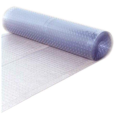 Berrnour Home Multi-Grip Clear Ribbed Runner Rug Plastic Carpet Protector Mat 26