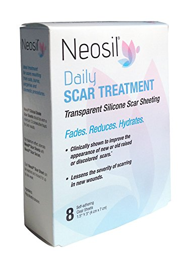 Neosil NEO-0159 Daily Transparent Silicone Scar Sheeting, 1-1/2' x 3' (Pack of 8)