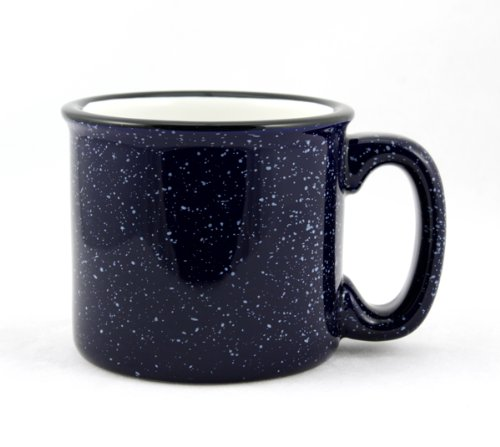 - Marble Creek Ceramic Mug, 15oz - Set of 4 (Cobalt Blue)