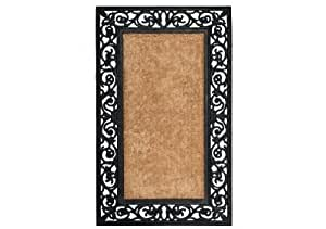 Extra Weave Usa Scroll Rubber Coir Doormat, 22-Inch by 36-Inch