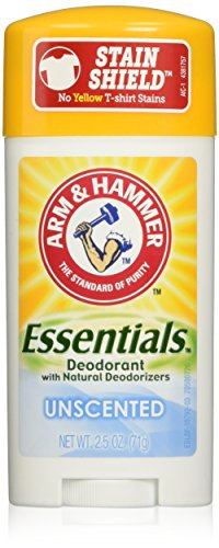 Price comparison product image Arm & Hammer Essentials Solid Deodorant, Unscented,2.5 oz, 6 Count