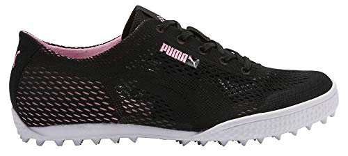 Puma Golf Women's Monolite Cat Woven Golf Shoe puma Black-Pale Pink 6 M US
