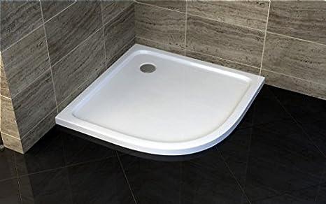 Plato ducha 80 x 80 x 5 semicircular de acrílico reforzado: Amazon.es: Bricolaje y herramientas
