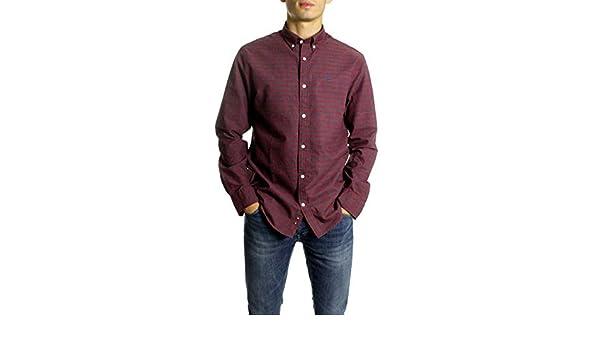 Gant Camisa Cuadros Heather Oxford Gingham Granate M: Amazon.es: Ropa y accesorios