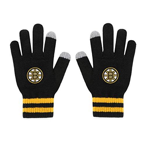 NHL Boston Bruins Men's Sportsman Touch OTS Glove, Black, Men's
