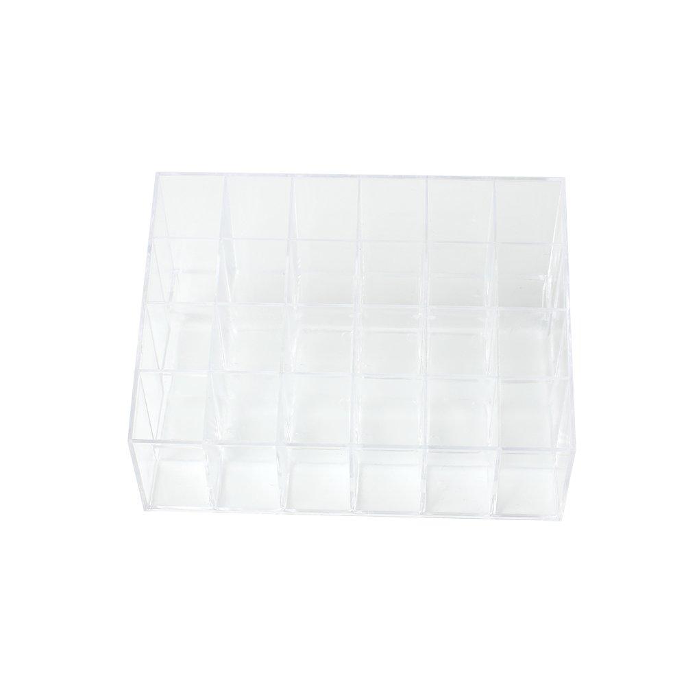 Doitsa Transparente Expositor para pintalabios 24 Compartimentos almacenaje acrí lico Caja de Almacenamiento Maquillaje cosmé tica