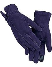 ZHJBD Equipo de Proteccion/Guantes de Cuero de Invierno Ciclismo al Aire Libre Guantes de Pantalla táctil Guantes cálidos Guantes Deportivos (Color : Blue, Size : XXL)