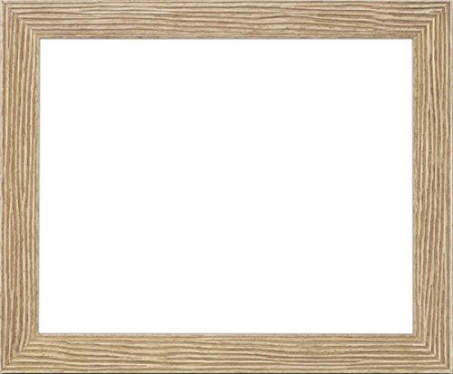 ラーソンジュールニッポン デッサン額縁 ウェーブ/茶 半切(545×424mm) アクリル B01983TZ5K 半切 半切