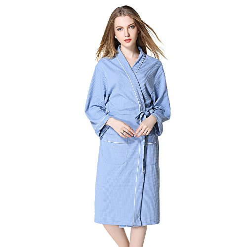 - BabYoung Women's Waffle Bathrobes Casual 60% Cotton Plus Size Robes,XL 2XL 3XL Couple Nightgown