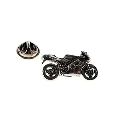Sport Bike Pewter Lapel Pin Badge - Bike Brooch Pin