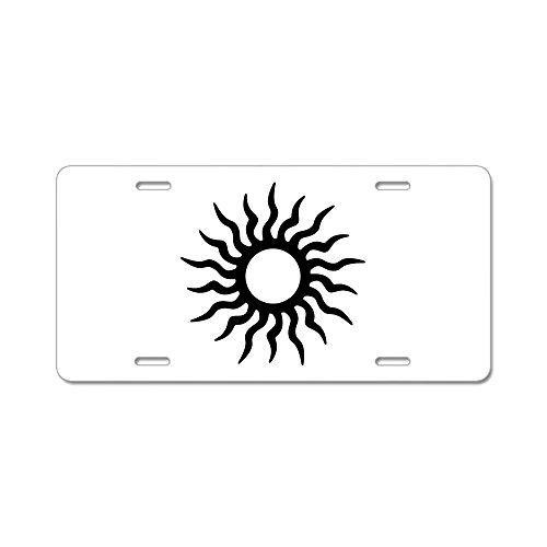 CafePress Tribal Sun Icon Aluminum License Plate - Standard Multi-color