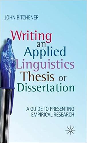 Applied linguistic thesis