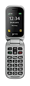 Jethro [SC330] 3G Unlocked Flip Senior & Kids Cell Phone, SOS Emergency Button, 2.4