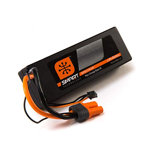Spektrum Smart LiPo Battery Pack: 5000mAh 4S 14.8V 30C with IC5 Connector (EC5 Compatible), Hard Case ()