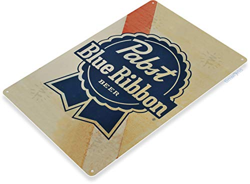 "TIN Sign 12"" x 18"" Pabst Blue Ribbon Old Beer Metal for sale  Delivered anywhere in USA"