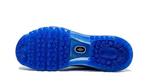 Onemix Air Zapatos para Correr en Montaña y Asfalto Aire Libre y Deportes Zapatillas de Running Padel para Hombre Azul