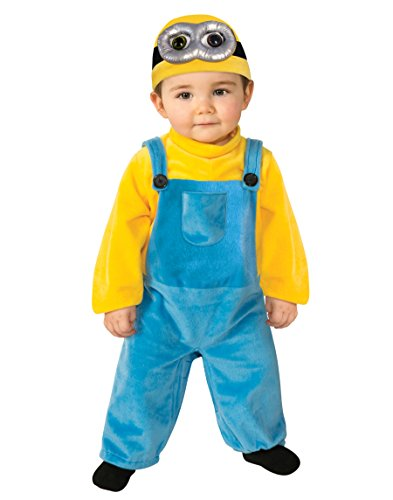 Rubie's Costume Co Baby Boys' Minion Bob Romper Costume, Yellow, 3-4 Years