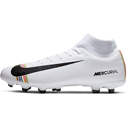 Nike Men's Mercurial Superfly 6 CR7 Soccer Cleat White/Black/Pure Platinum Size 8 M US ()