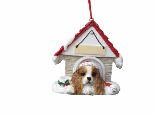 Cavalier King Charles Spaniel Brown Doghouse Christmas (King Charles Ornament)